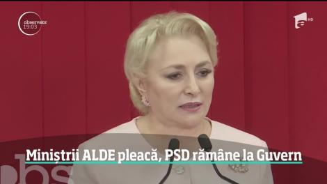Ruptura dintre ALDE şi PSD aruncă România într-o criză guvernamentală