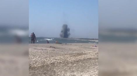 Explozie pe plaja de la Vadu