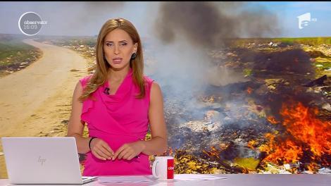 Gunoaie incendiate în Ploiești