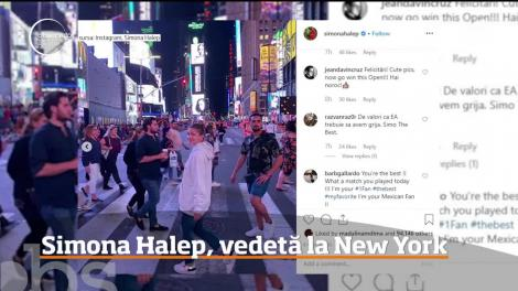 Simona Halep a devenit super vedetă şi la New York