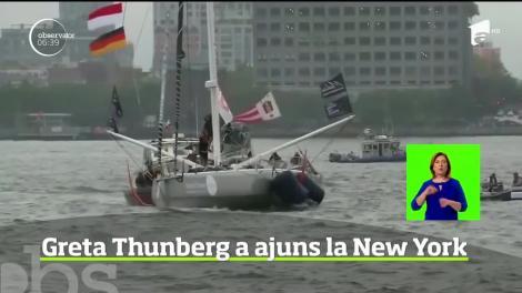 Călătoria ca un manifest pe care tânăra activistă de mediu, Greta Thunberg, a făcut-o peste Oceanul Atlantic a ajuns la final