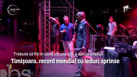 Record mondial la Timișoara. Aproximativ 6.300 de oameni au aprins leduri simultan.