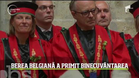 Berea e sacră în Belgia! A fost purtată pe străzi, într-o procesiune solemnă, iar apoi a fost binecuvântată în biserică