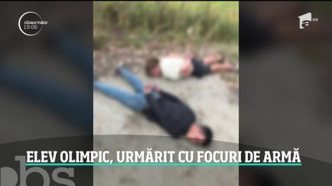 Un elev olimpic şi prietenul lui au fost urmăriţi de poliţie cu focuri de armă