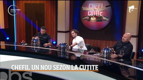 """Începe sezonul 7 al show-ului culinar, """"Chefi la cuţite"""". Număr record de concurenți la degustările pe nevăzute"""