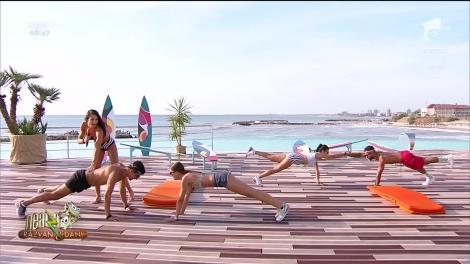"""""""Fundulețul mult în spate!"""". Diana Stejereanu, antrenament incendiar pentru cupluri, la """"Neatza cu Răzvan și Dani"""" - Video"""