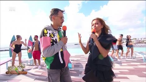 """Bella Santiago, show fabulos la """"Neatza cu Răzvan și Dani""""! Răzvan Simion a provocat-o să vorbească cu accent ardelenesc! Video"""