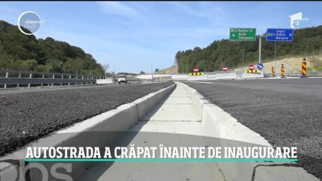 Fisuri pe autostrada refuzată de ministrul Transporturilor