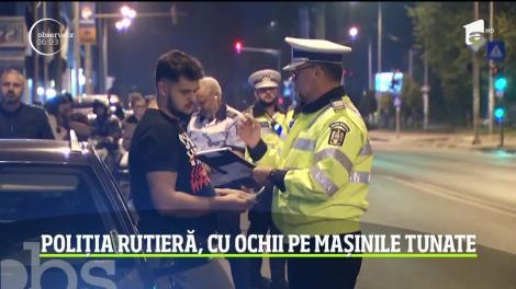 O nouă razie a Poliţiei Rutiere! Amenzi usturătoare pentru şoferii cu maşini tunate