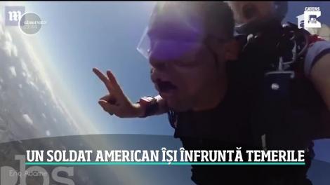 Un membru al marinei militare americane a leşinat de trei ori în timpul unui salt cu paraşuta