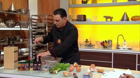 Chefi la cuţite. Chef Cătălin Scărlătescu, reacție neașteptată: Tocmai am mâncat ceva care simt că mă mănâncă ea pe mine