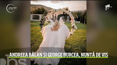 Momente unice pentru Andreea Bălan şi George Burcea. S-au căsătorit religios şi şi-au botezat fetiţa cea mică
