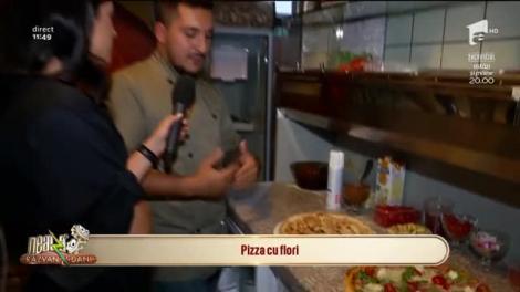 Atenție, pofticioși! Pizza cu flori, un deliciu la Neatza cu Răzvan și Dani