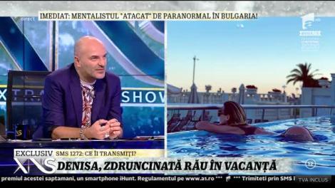 Xtra Night Show. Denisa Tănase, vacanţă pe yaht: Ne-a prins o furtună. Zburau farfuriile peste tot