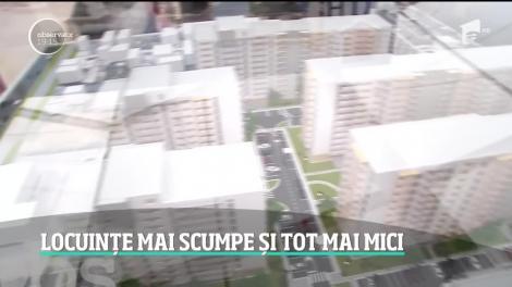 Locuințe mai scumpe în București, dar și tot mai mici