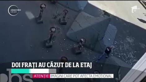 Doi frați au căzut de la etaj, în Baia Mare