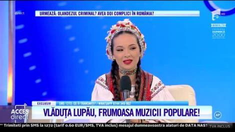 Vlăduța Lupău, frumoasa muzicii populare, despre căsătorie: Nunta va fi anul viitor, într-o zi de marți sau de joi