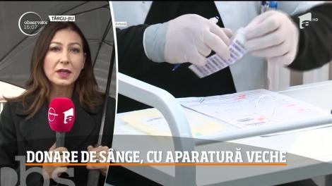 Situaţie îngrijorătoare la Târgu-Jiu! Aparatura cu care se recoltează sângele de la Centrul de Tranfuzii Sanguine este veche de aproape 30 de ani!