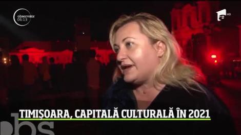 Sărbătoare în stradă la Timişoara, care va fi Capitală Culturală Europeană în 2021