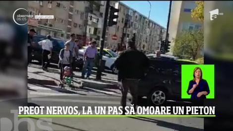 Un preot din Argeş a ajuns pe mâinile poliţiştilor după ce a lovit cu maşina, intenţionat, un bărbat