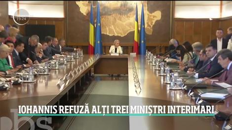 Preşedintele Klaus Iohannis a refuzat propunerile Vioricăi Dăncilă în privinţa miniştrilor interimari