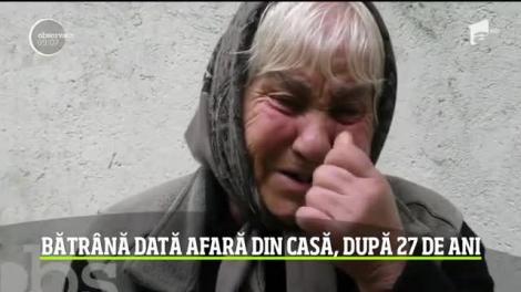 Bătrână din Brașov, dată afara din casă, după 27 de ani