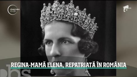 Regina Mamă Elena, repatriată în România. Va fi înmormântată alături de fiul Regele Mihai I