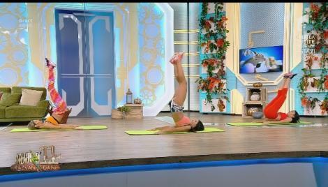 Fitness cu Diana Stejereanu, la Neatza cu Răzvan și Dani. Cinci exerciții pentru un abdomen tonifiat