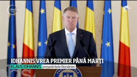 Klaus Iohannis vrea premier până marți