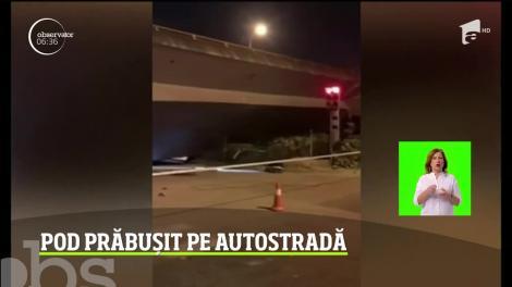 Scene de groază pe o autostradă din China. Opt oameni au murit şi alţi doi au fost răniţi după ce un pasaj suprateran s-a prăbuşit