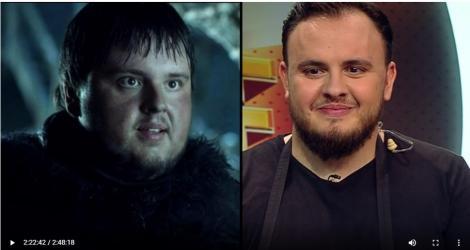 """Băi băiatule, cum seamănă! Sosia unui celebru actor din Game of Thrones, în platoul Chefi la cuţite: """"Pot să fac o poză cu tine?"""""""