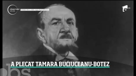 S-a stins una dintre marile actriţe ale României. Tamara Buciuceanu Botez a murit la spitalul Elias din Capitală
