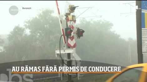 Mai mulţi şoferi grăbiţi au rămas fără permis de conducere, pentru că nu au respectat regulile de circulaţie la trecerile la nivel cu calea ferată din toată ţara