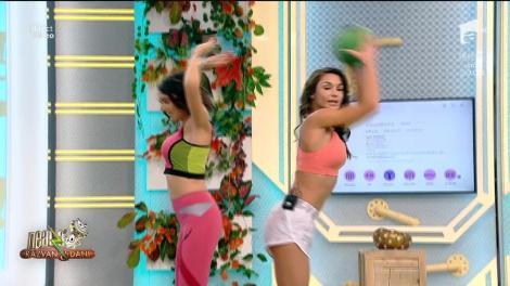 Fitness cu Diana Stejereanu, la Neatza cu Răzvan și Dani! Exerciții cu mingea medicinală care te vor ajută să slăbești