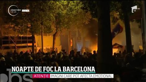 Momente de groază pentru românii-martori ai protestelor violente din Catalonia
