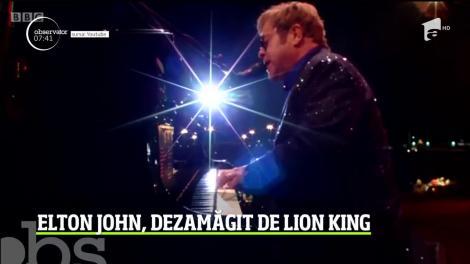 Elton John, dezamăgit de noua ecranizare a filmului Lion King