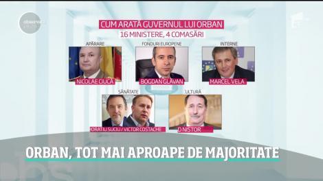 Guvernul Orban are tot mai multe şanse să treacă de Parlament