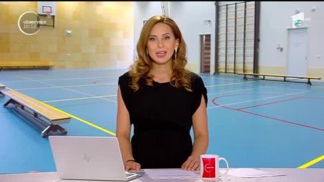 Steliana Nistor predă educație fizică la o școală generală din comună Rășinari