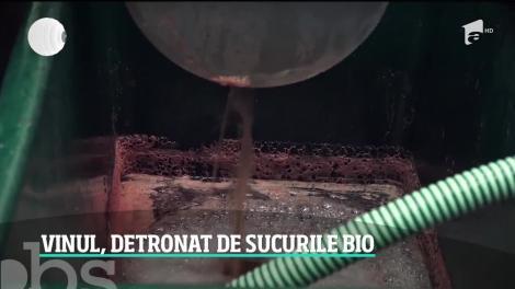 Vinul românesc, detronat de sucurile bio