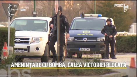 Amenințare cu bombă în București! Traficul pe Calea Victoriei a fost blocat
