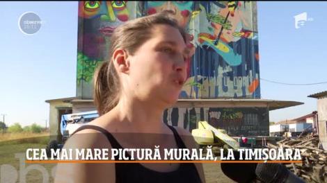 Timişoara are cea mai mare pictură murală din ţară