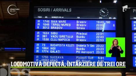 Un tren care venea din Baia Mare spre Bucureşti a avut o întârziere de trei ore după o defecţiune tehnică la locomotivă