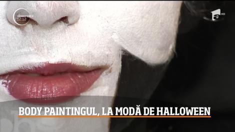 Body paintingul, pictura specială pe piele, la modă de Halloween