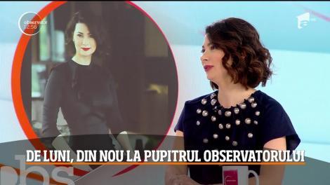 Mihaela Călin se întoarce la pupitrul Observatorului orei 16:00. Cum i s-a schimbat viața de când l-a adus pe lume pe Petru