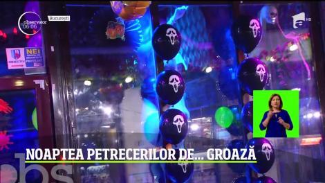 Noaptea petrecerilor de groază! De Halloween, românii cu chef de distracţie s-au îmbrăcat în cele mai înfiorătoare costume şi au purtat machiaje de speriat