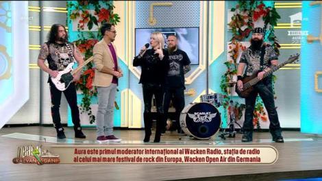 """Dă boxele la maxim! Scarlet Aura cântă, la Neatza cu Răzvan și Dani, melodia """"High in Sky"""""""