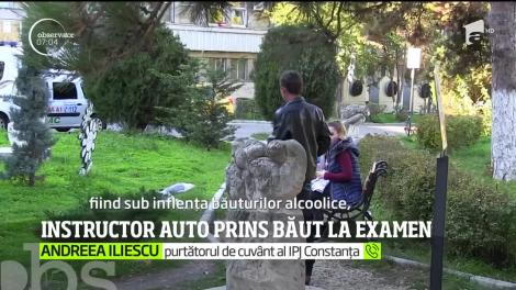 Un instructor auto din Constanţa a fost prins băut la examenul dat de un elev de-al său