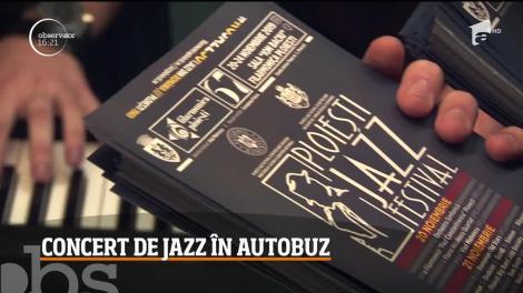 Ploieştenii care folosesc transportul în comun pot deveni în orice moment spectatori ai unui concert de muzică jazz