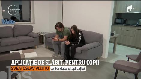 Tinerii din Cluj au inventat o aplicaţie pentru telefonul mobil care îi ajută pe copii să slăbească într-un mod interactiv
