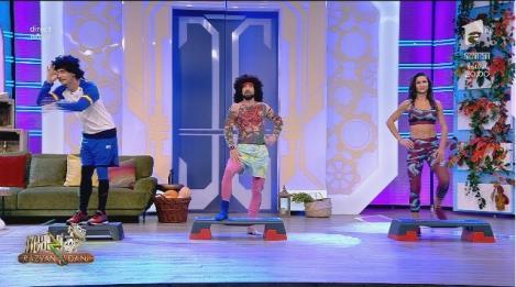 Neatza cu Răzvan și Dani. Cea mai amuzantă sesiune de aerobic, cu Bossu Libidinosu' și Viorele Cârcel. Exerciții pentru un corp perfect